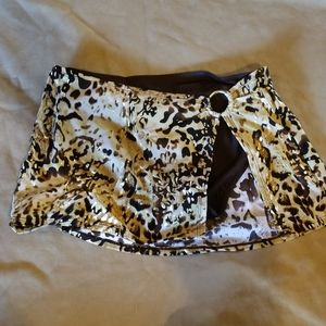 Brown/gold Bikini bottom skirt